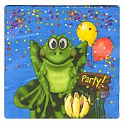 Frog Swamp Party Large Napkins, pk/16