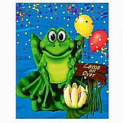 Frog Swamp Party Invitations, pk/8