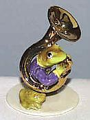 Porcelain Miniature: Tuba Player Frog