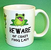 Crazy Frog Lady Ceramic Mug