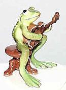 Porcelain Miniature: Mandolin Frog