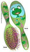 Whimsical Frog Hairbrush