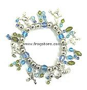 Multi Beaded Frog Stretch Bracelet