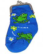 Funny Frogs Sock Change Purse