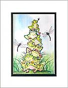 Frog Pile Up Matted Print