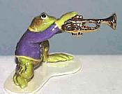Porcelain Miniature: Trumpet Frog