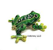 Rain Forest Frog Enameled Box
