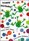 """Hoppy Birthday"" Frog Card"