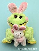 "Small ""Frabbit"" Easter Frog with Bunny"