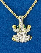 Crystal Frog Necklace