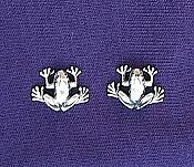 Sterling Elegant Frog Earrings