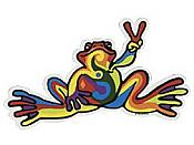 Peace Frogs: Retro Peace Sticker (Giant)