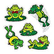 Dazzle Sparkle Frog Stickers (75)