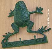 Green Frog Key Hooks