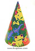 Frogs & Friends Party Hats (8)