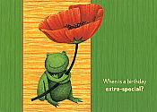 Extra Special Frog Birthday Card