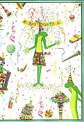 """Celebrate It's Your Birthday"" Frog Birthday Card"