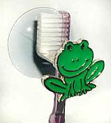 Frog Suction-Cup Toothbrush Holder