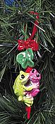 Kitty's Critters Frog Ornament: Pucker Up