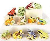 Ceramic Frog Miniatures (12)