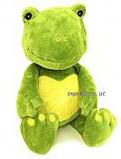 "16"" Patchie the Frog Rattle Plush"