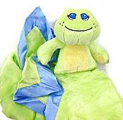 Fuzzy Frog Baby Blanket