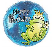 Happy Birthday Frog Mylar Balloon