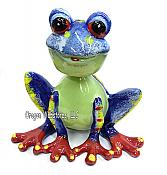 Bobbleheaded Blue Frog