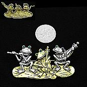 Frog Trio Playing Instruments Pin