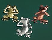No Evil Frogs Pewter Tac Set