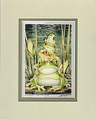 "Bergsma: ""Top Frog...Take The Leap"" Matted Print"