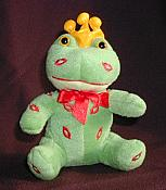 Little Plush Frog Prince with Kisses
