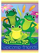 Garden Frogs House Flag