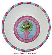 Frog Princess Plastic Bowl
