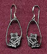 Treefrog Teardrop Sterling Earrings