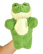 Green Soft Plush Frog Hand Puppet