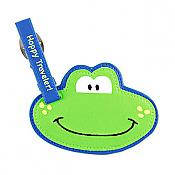 """Hoppy Traveler!"" Frog Luggage Tag"