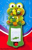 Frog Bubblegum Machine with Gumballs