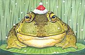 Enchanted Santa Frog Christmas Cards (16)