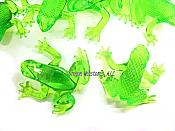 Translucent Lime Green Vinyl Frogs (pk/8)