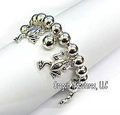 Frogs & Beads Charm Bracelet