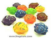Dozen Colorful Squirting Frogs