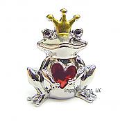 Lucky Love Pewter Frog Prince Charm