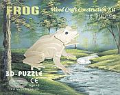 Frog 3D Wood Craft Puzzle (38 piece)