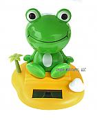 Solar Powered Happy Frog Toy