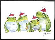 Four Frogs A-Croaking: 10 Boxed Cards