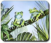 Green Jungle Frogs Mousepad