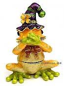 Speak No Evil Orange Jester Frog Jewel Box