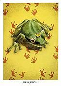Prince Prints Frog Card