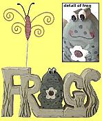 Wooden FROGS Letters